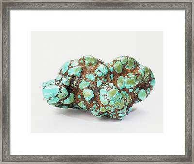 Turquoise Embedded In Iron Oxide Framed Print by Dorling Kindersley/uig