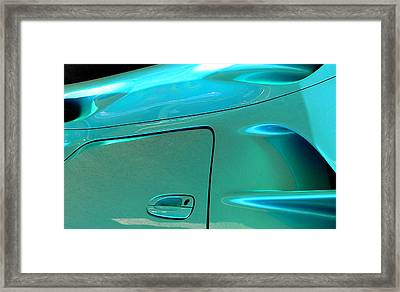 Framed Print featuring the photograph Turquoise Exotic Art Lines by Jeff Lowe