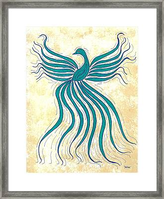 Turquoise Flutter Framed Print by Susie WEBER
