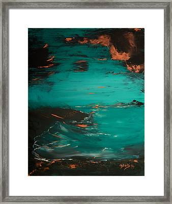 Turquoise Goodbye Framed Print by Donna Blackhall