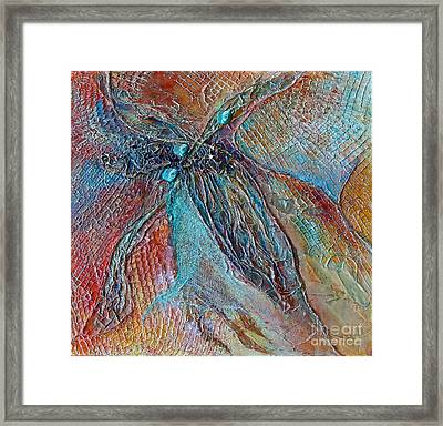 Framed Print featuring the mixed media Turquoise Jewel by Phyllis Howard