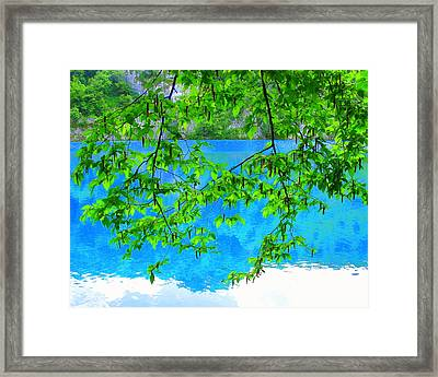 Framed Print featuring the photograph Turquoise Lake by Ramona Johnston