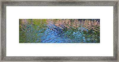 Turquoise Luminesence Framed Print by Cindy Lee Longhini