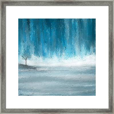 Turquoise Memories Framed Print by Lourry Legarde