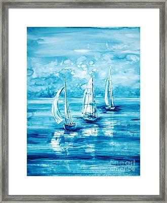 Turquoise Morning Framed Print by Zaira Dzhaubaeva