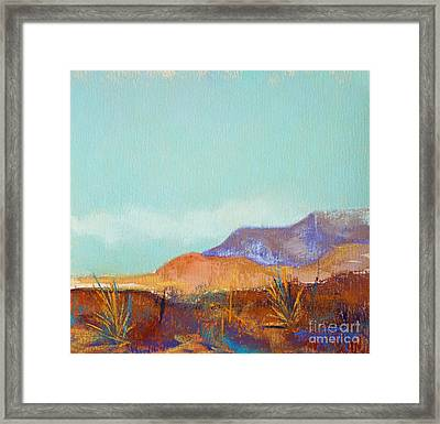 Turquoise Mountains Framed Print by Tracy L Teeter