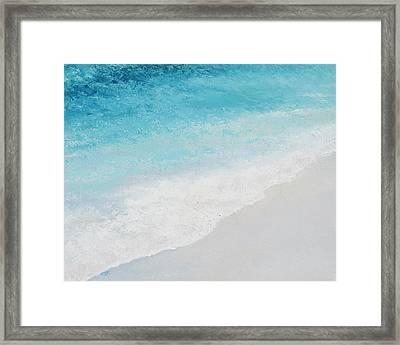 Turquoise Ocean 4 Framed Print