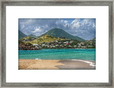 Turquoise Paradise Framed Print by Hanny Heim