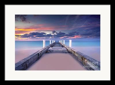 Beach Sunsets Framed Prints