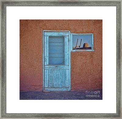 Turquoise Reflection Framed Print
