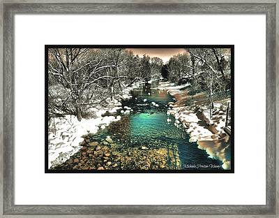 Framed Print featuring the photograph Turquoise River  by Michaela Preston