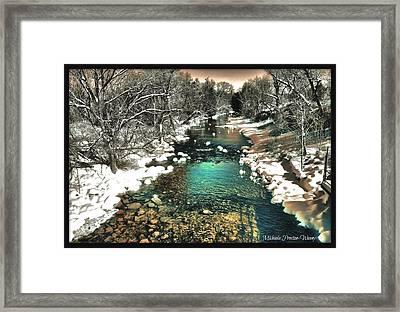 Turquoise River  Framed Print