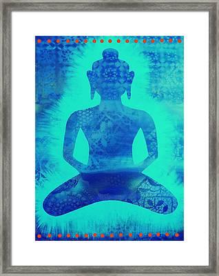 Turquoise Samadhi Framed Print by Cat Athena Louise