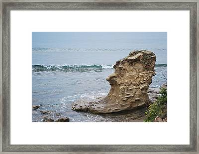 Turquoise Sea Framed Print by George Katechis