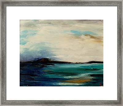 Turquoise Sea Framed Print