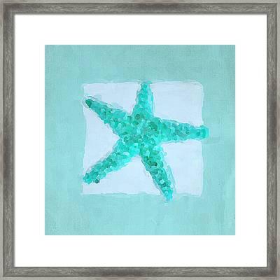 Turquoise Seashells II Framed Print