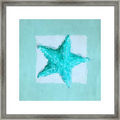 Turquoise Seashells Iv Framed Print