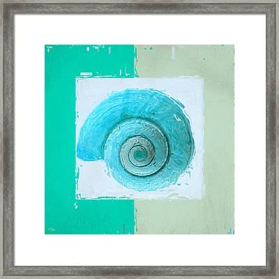 Turquoise Seashells X Framed Print by Lourry Legarde
