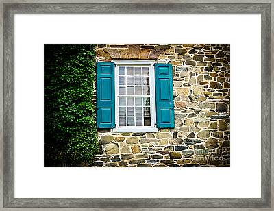 Turquoise Shutters  Framed Print by Colleen Kammerer