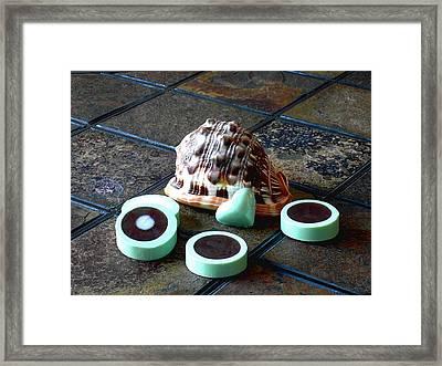 Turquoise Soap Slices Framed Print