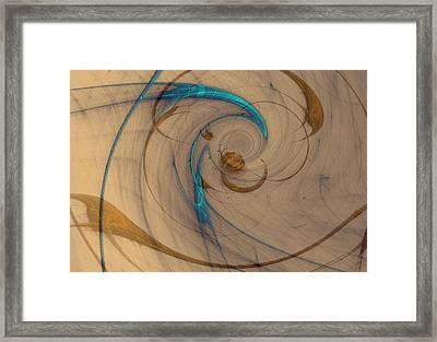 Turquoise Spiral Framed Print
