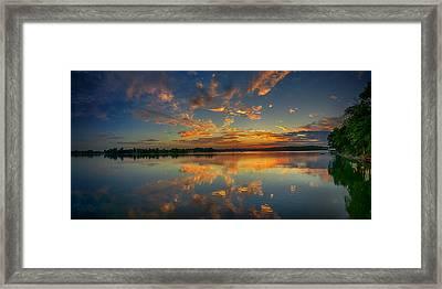 Turquoise Sunrise Framed Print by Dan Holland