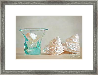 Framed Print featuring the photograph Turquoise Tumbler by Aiolos Greek Collections