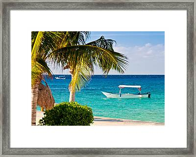 Framed Print featuring the photograph Turquoise Waters In Cozumel by Mitchell R Grosky