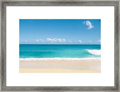Turquoise Wave Framed Print