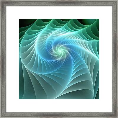 Turquoise Web Framed Print