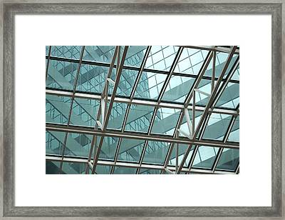 Turquoise Windows Framed Print