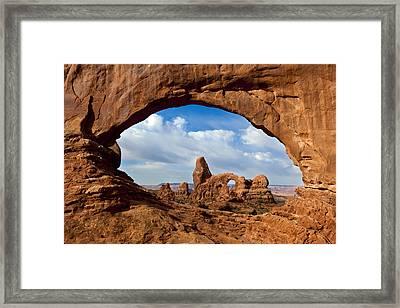 Turret Arch Through North Window Arch Framed Print by Erik Joosten
