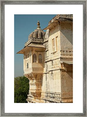 Turret At The City Palace, Udaipur Framed Print