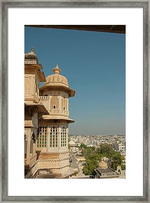 Turret, City Palace, Udaipur Framed Print