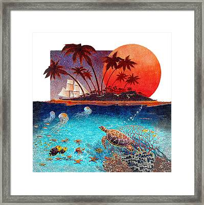 Turtle And Jelly Soup Framed Print