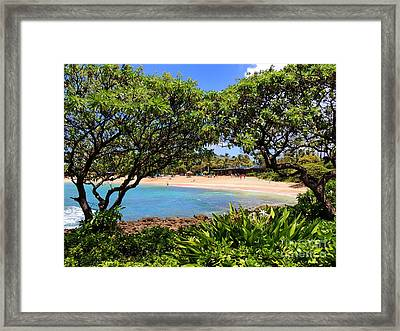 Framed Print featuring the photograph Turtle Bay Beach by Kristine Merc