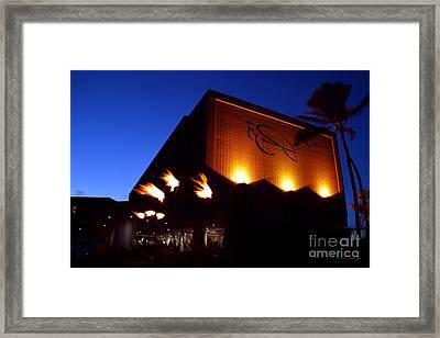 Turtle Bay Resort After Sunset Framed Print
