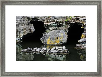 Turtle Caves Framed Print by JC Findley