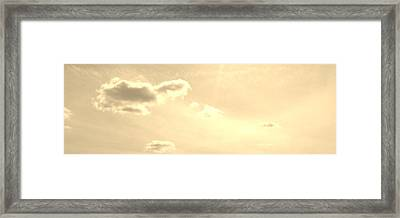Turtle Cloud Bliss Framed Print