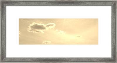 Turtle Cloud Bliss Framed Print