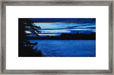 Turtle Lake Framed Print