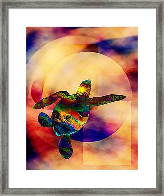 Turtle Medicine Framed Print by Bruce Manaka