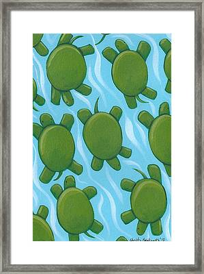 Turtle Nursery Art Framed Print by Christy Beckwith