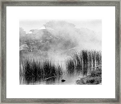 Framed Print featuring the photograph Turtle Pond Fog by Dave Beckerman