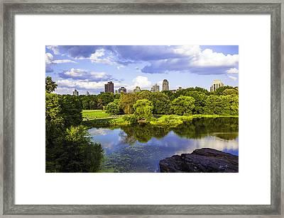 Vista Rock View 2  - Central Park - Manhattan Framed Print