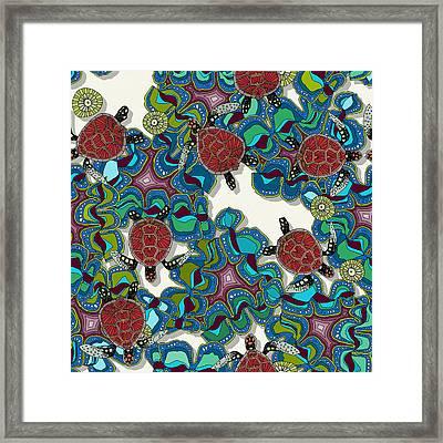 Turtle Reef Framed Print by Sharon Turner