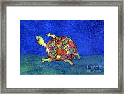 Turtle Trot Framed Print by Marlene Robbins