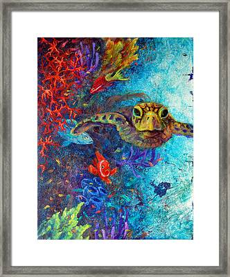 Turtle Wall 2 Framed Print