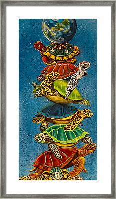 Turtles All The Way Down Framed Print