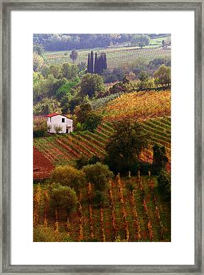 Tuscan Autumn Framed Print by John Galbo